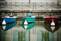 Boats in the channel Stock Photo
