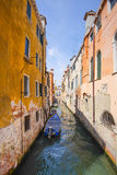 boats on a channel in Venice Royalty Free Stock Image
