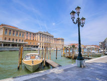 boats on a channel in Venice Royalty Free Stock Photography