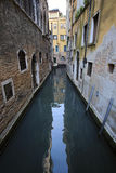 Boats on a channel in Venice Stock Photo
