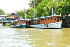 Boats on Chao Phraya river Royalty Free Stock Images