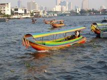 Boats on Chao Praya river Royalty Free Stock Photography