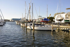 Boats in Chesapeake Bay stock images