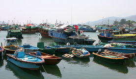 Boats in Cheung Chau. Hong Kong. Royalty Free Stock Photo