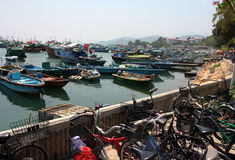 Boats in Cheung Chau. Hong Kong. Royalty Free Stock Photos