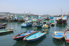 Boats in Cheung Chau. Hong Kong Royalty Free Stock Photos