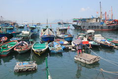 Boats in Cheung Chau. Hong Kong Royalty Free Stock Image