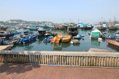 Boats in Cheung Chau. Hong Kong Royalty Free Stock Photography
