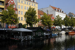 BOATS AT CHRISTIANSHAVN CANAL Royalty Free Stock Photography