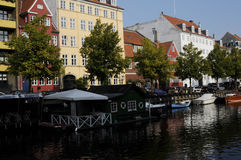 BOATS AT CHRISTIANSHAVN CANAL Royalty Free Stock Photos