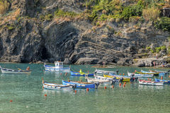 Boats, Cinque Terre, Italy Royalty Free Stock Images