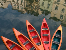 Boats in the city royalty free stock photography