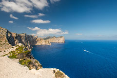 Boats at coast of Mallorca Balearic Islands Royalty Free Stock Photography