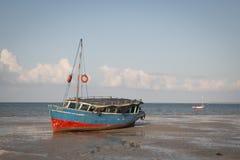Boats at the coast of Vilanculos Stock Photos