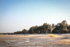 Boats at the coast of Vilanculos Royalty Free Stock Images