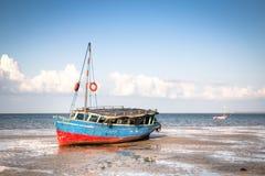 Boats at the coast of Vilanculos Royalty Free Stock Image