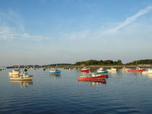 Boats in Cohasset Harbor Stock Image