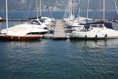 Boats in Como lake Royalty Free Stock Images