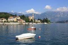 Boats in Como lake Royalty Free Stock Photos