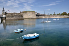 Boats at Concarneau in France Royalty Free Stock Photos