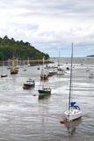 Boats at Conwy Bay Stock Photos