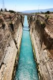 Boats in the Corinth Canal, Greece. The Boats in the Corinth Canal, Greece Stock Image