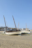 Boats on cornish beach Royalty Free Stock Photography