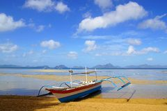 Boats at Corong corong beach. El Nido Stock Photography