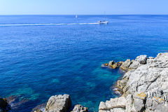 Boats at costa brava Royalty Free Stock Photos