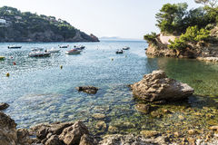 Boats in the Costa Brava, Catalonia, Spain Royalty Free Stock Image