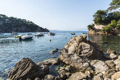 Boats in the Costa Brava, Catalonia, Spain Stock Photos