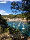 Boats on Costa Brava Coast Royalty Free Stock Photo