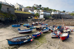 Boats in Coverack harbour Cornwall England UK coastal fishing village on the Lizard Heritage coast South West England Royalty Free Stock Photography
