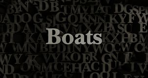 Boats - 3D rendered metallic typeset headline illustration Royalty Free Stock Image