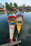 Boats on the Dal Lake in Srinagar, India Stock Images