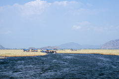 Boats on Dalyan river, Dalyan, Mugla Royalty Free Stock Photos
