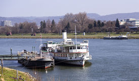 Boats in Danube Stock Images