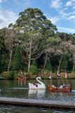 Boats on Dark Lake Gramado Brazil Royalty Free Stock Photo