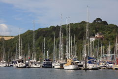 Boats in Dartmouth harbour Stock Photos