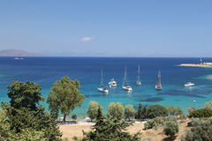 Boats in Datca Town Stock Images
