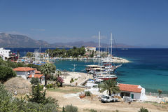 Boats in Datca Town Royalty Free Stock Photos
