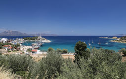 Boats in Datca Town Royalty Free Stock Photography