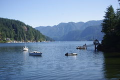 Boats at Deep Cove Stock Photos