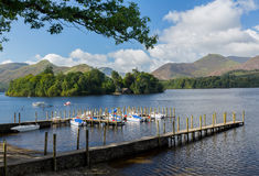 Boats on Derwent Water in Lake District Royalty Free Stock Images