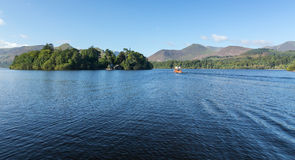 Boats on Derwent Water in Lake District Royalty Free Stock Photos