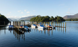 Boats on Derwent Water in Lake District Royalty Free Stock Photo
