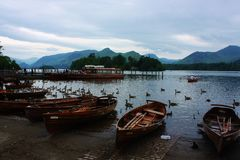 Boats on Derwent Water Stock Image