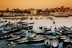 Boats in Dhaka, Bangladesh Royalty Free Stock Images