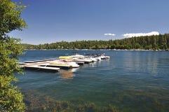 Boats at dock Stock Photography