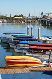 Boats at dock. Row of boats at dock Royalty Free Stock Photos